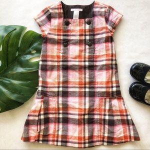 Janie & Jack Plaid Button Front Dress Size 4T